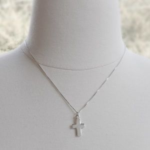 Jewelry - Simple Sterling Silver Cross Necklace